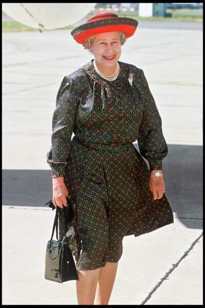 Elizabeth II à l'aéroport d'Heathrow à Londres en 1994