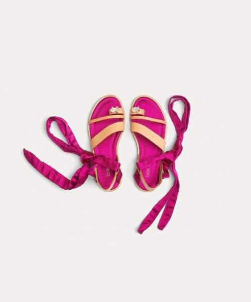 sandales bijoux plates veau soie 325,00 euro, sur www.forte-forte.com