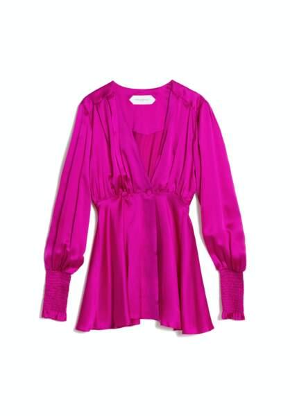 Robe coloris satin fuchsia, 520€, Fête impériale