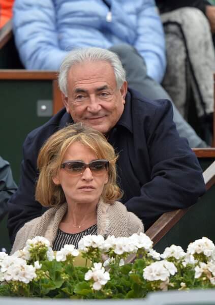 Dominique Strauss-Kahn et Myriam L'Aouffir à Roland Garros le 9 juin 2013