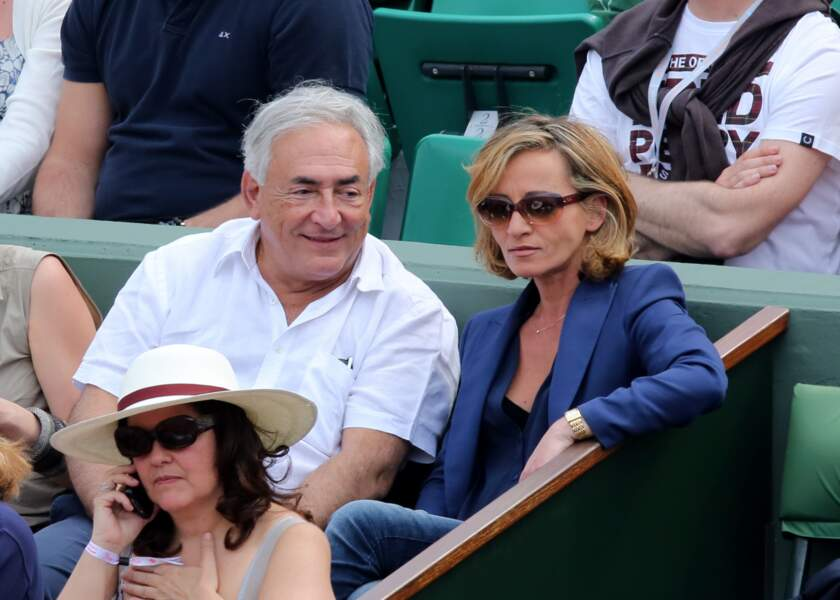 DSK et son épouse Myriam L'Aouffir lors d'une rare apparition publique à Roland Garros le 8 juin 2013