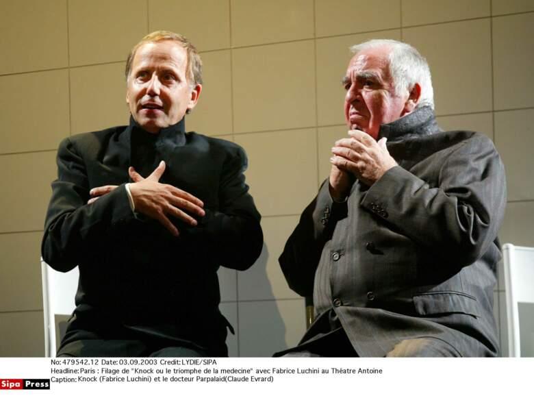 Claude Evrard est mort ce 20 avril des suites du coronavirus. Ici avec Fabrice Luchini au Théâtre Antoine.
