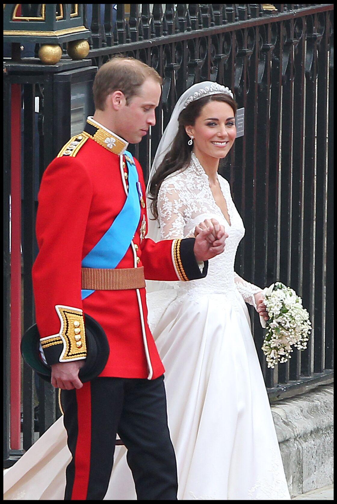 William et Kate Middleton lors de leur mariage