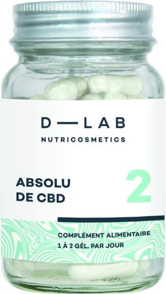 Complément Alimentaire Absolu de CBD, D Lab, 38 €, sephora.fr
