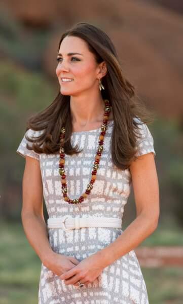 Kate Middleton très estivale le 22 avril 2014, en voyage en Australie.