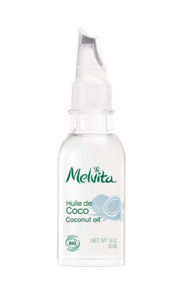 Huile de Coco, Melvita, 11,50 € les 50 ml, melvita.fr