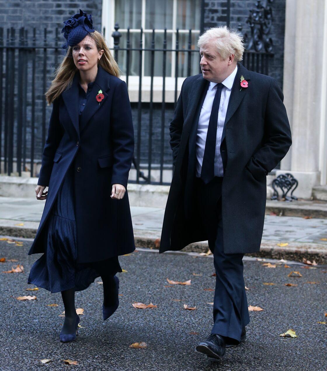 Boris Johnson et sa compagne Carrie Symonds le 10 novembre 2019