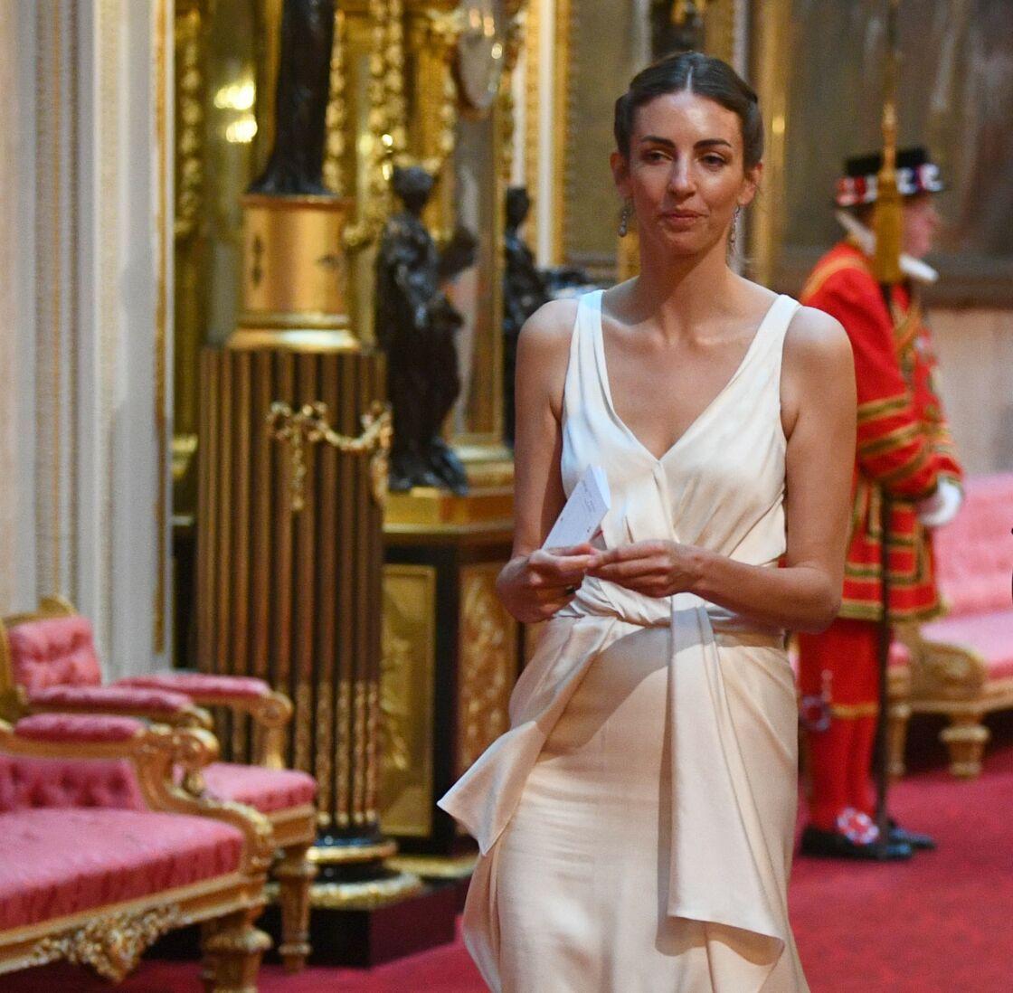 Rose Hanbury, celle par qui le scandale est arrivé, lors de la réception de Donald Trump à Buckingham, le 3 juin 2019.