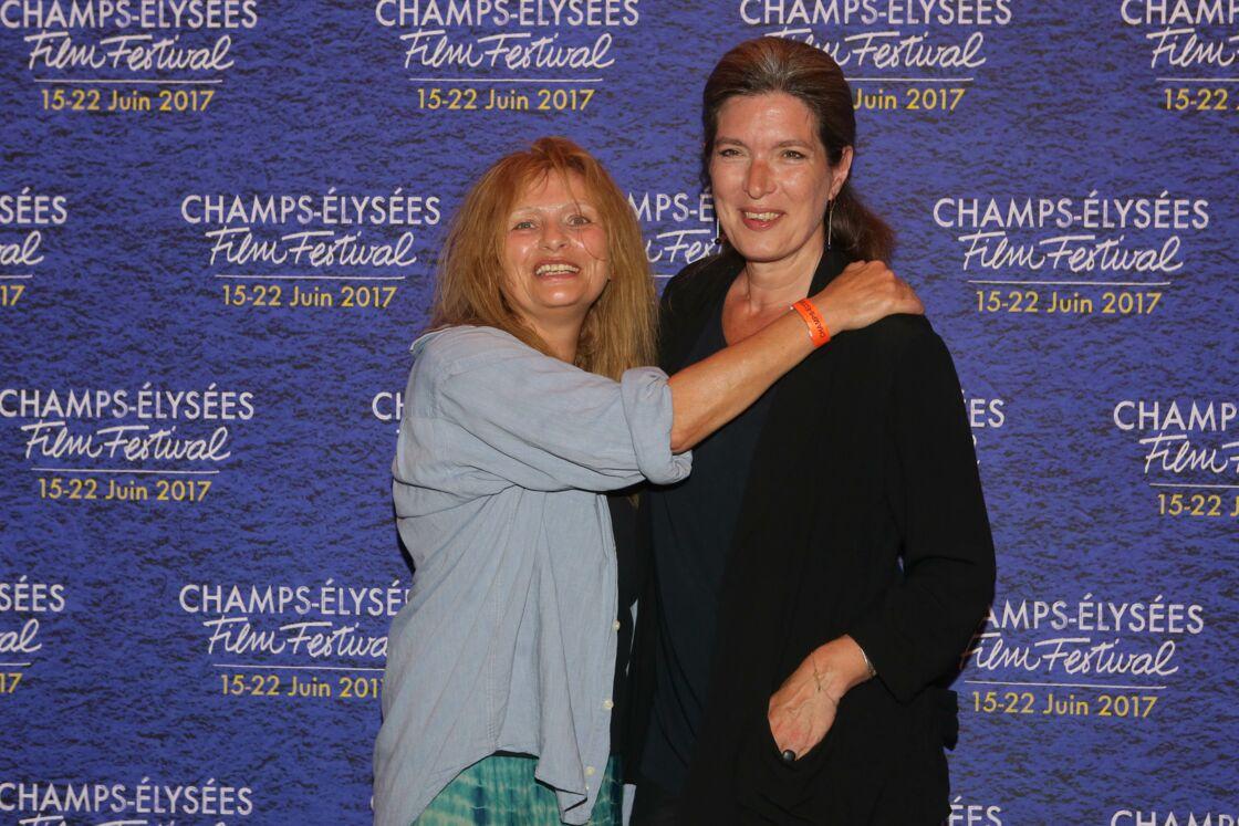 Éléonore Klarwein et l'actrice Odile Michel (ci-dessus, à gauche) au cinéma Publicis, lors d'une projection de Diabolo Menthe en juin 2017