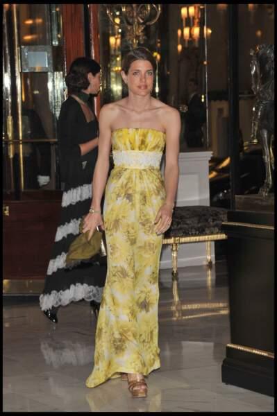 Charlotte Casiraghi lors du gala annuel de l'Amade à Monaco, le 7 avril 2011