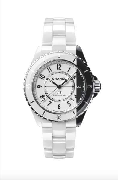J12 Blanche paradoxe, boîtier en céramique - fond en saphir, prix sur demande, Chanel Horlogerie