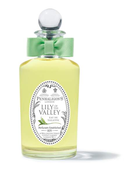 Un incontournable de la tradition anglaise depuis 1976 : Lily of the Valley, Penhaligons, 100 ml, 119€, penhaligons.com