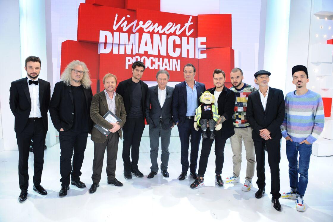 Michel Drucker sur le plateau de Vivement dimanche, le 21 octobre 2019