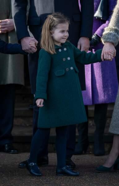 Princesse  Charlotte, très élégante pour la messe de Noël, le 25 décembre 2019.