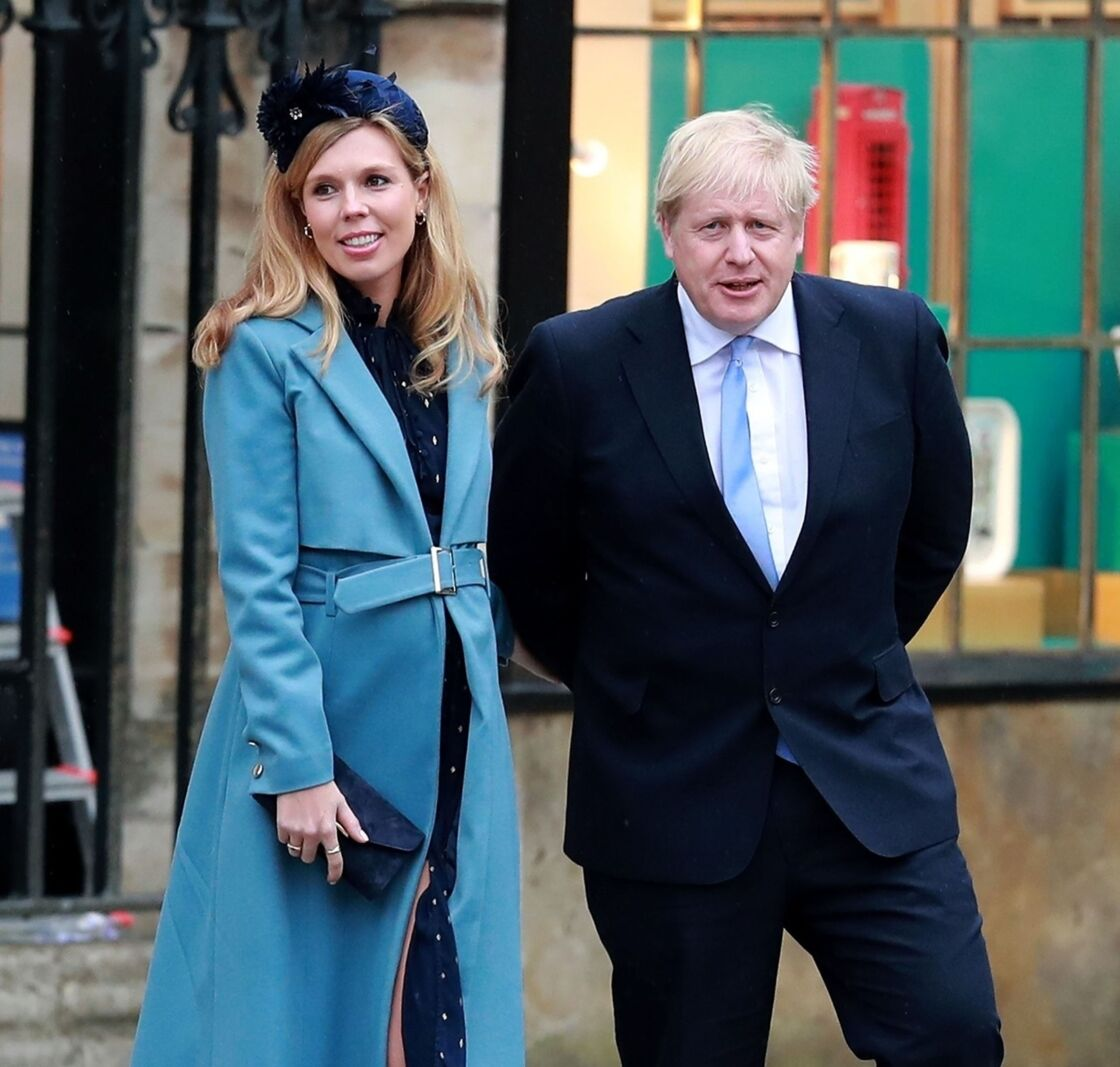 Boris Johnson et Carrie Symonds lors de la cérémonie du Commonwealth le 9 mars 2020