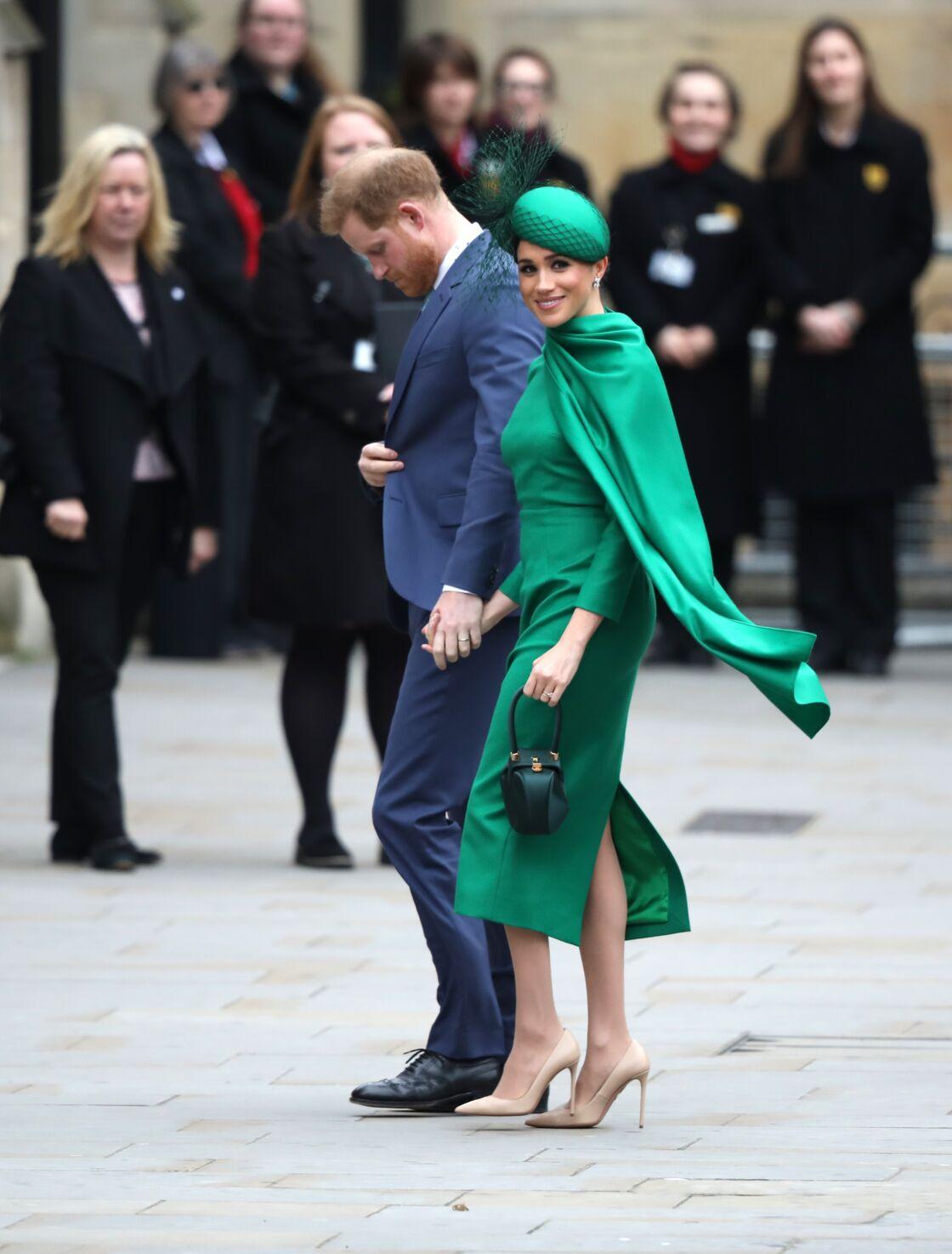 e prince Harry et Meghan Markle lors de la cérémonie du Commonwealth en l'abbaye de Westminster à Londres, le 9 mars 2020