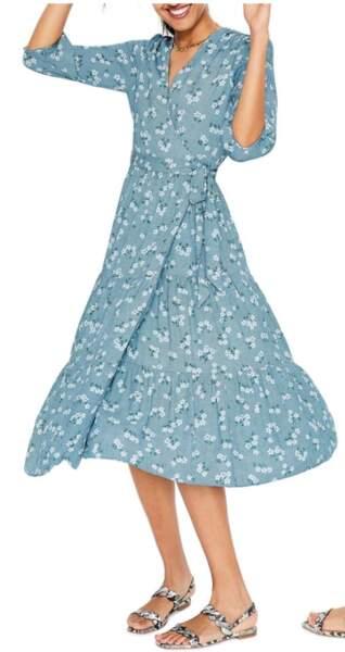 La robe-portefeuille Aurora de Boden, portée par Kate middleton en rupture de stock depuis deux ans.