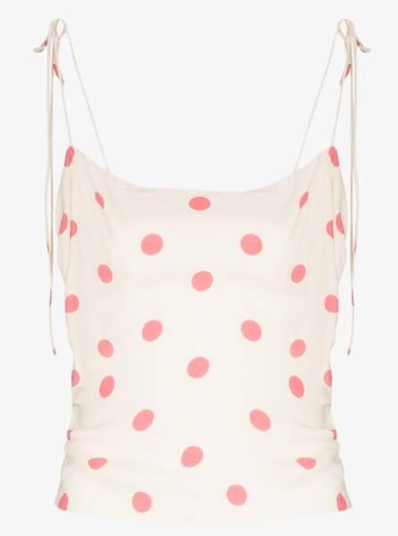 "Lupe Polka-Dot"", top à bretelles, 104 €, Reformation sur brownsfashion.com"