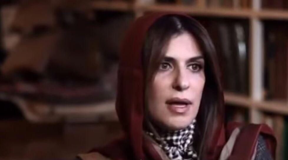 Basma ben Saoud lors d'une interview télévisée
