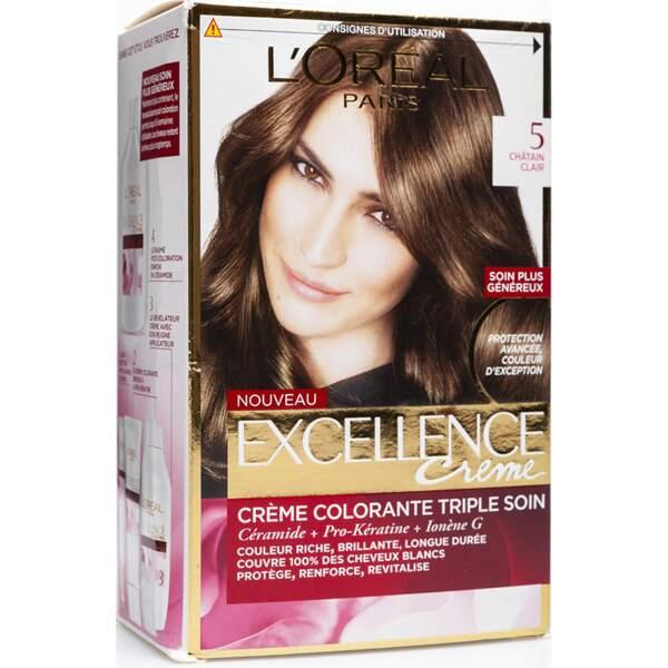 Crème colorante triple soin, Excellence Crème, L'Oréal Paris,  11,50€
