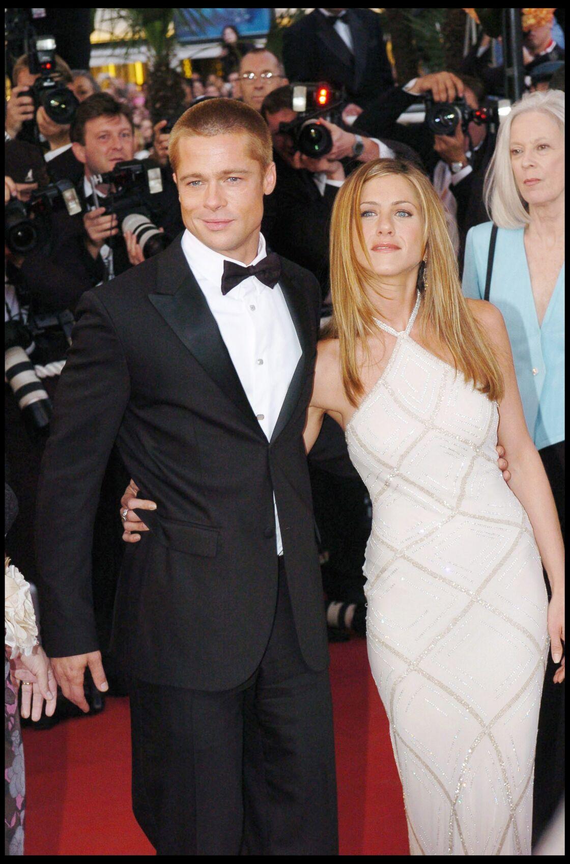 Jennifer Aniston et Brad Pitt au fesitval de Cannes en 2004