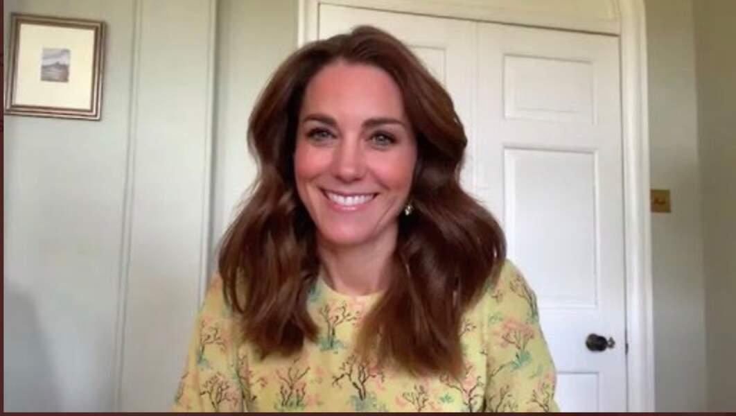 Kate Middleton le 7 mai 2020 en visio sur la BBC.