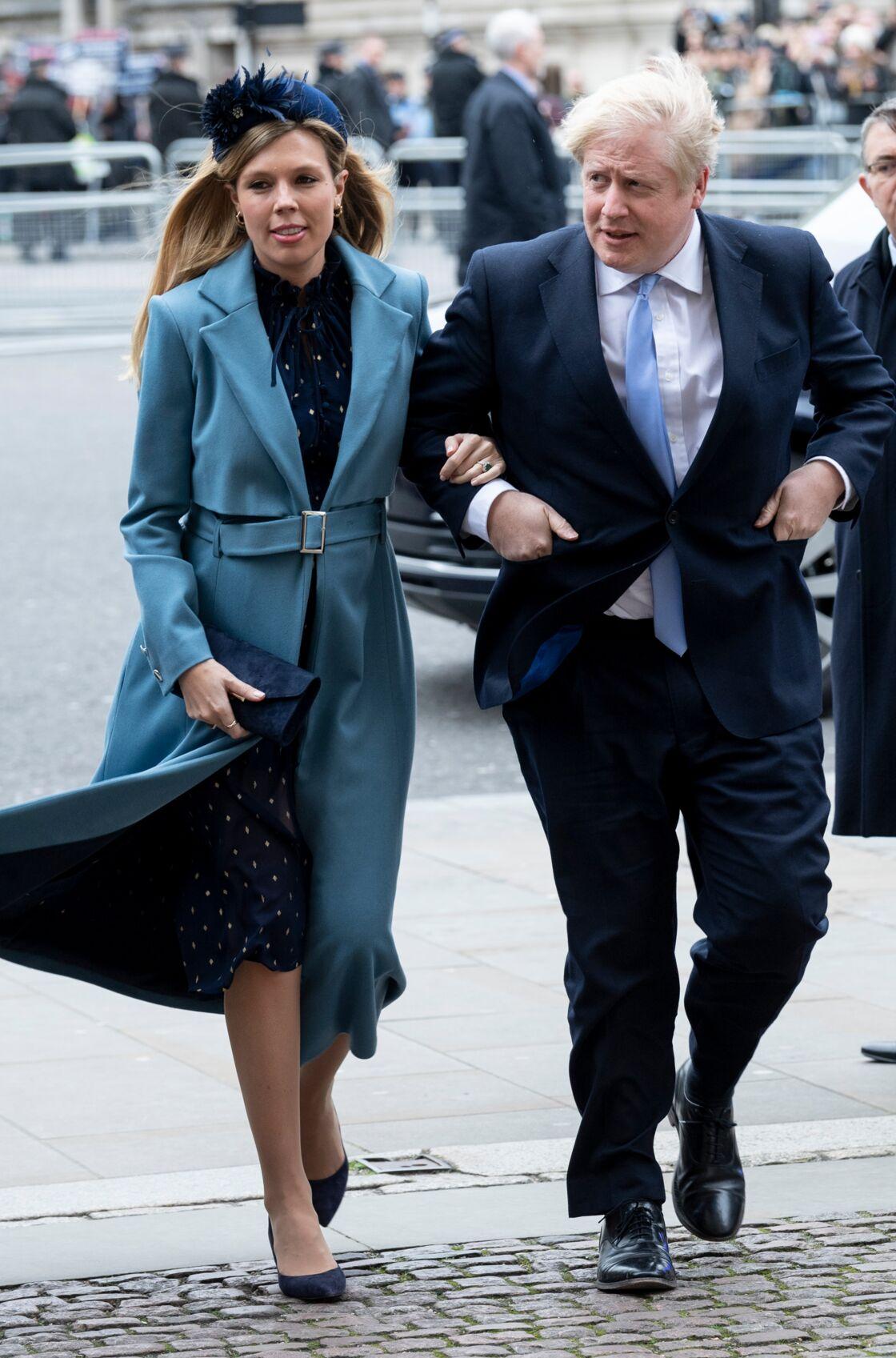 Boris Johnson et sa compagne Carrie Symonds le 9 mars 2020