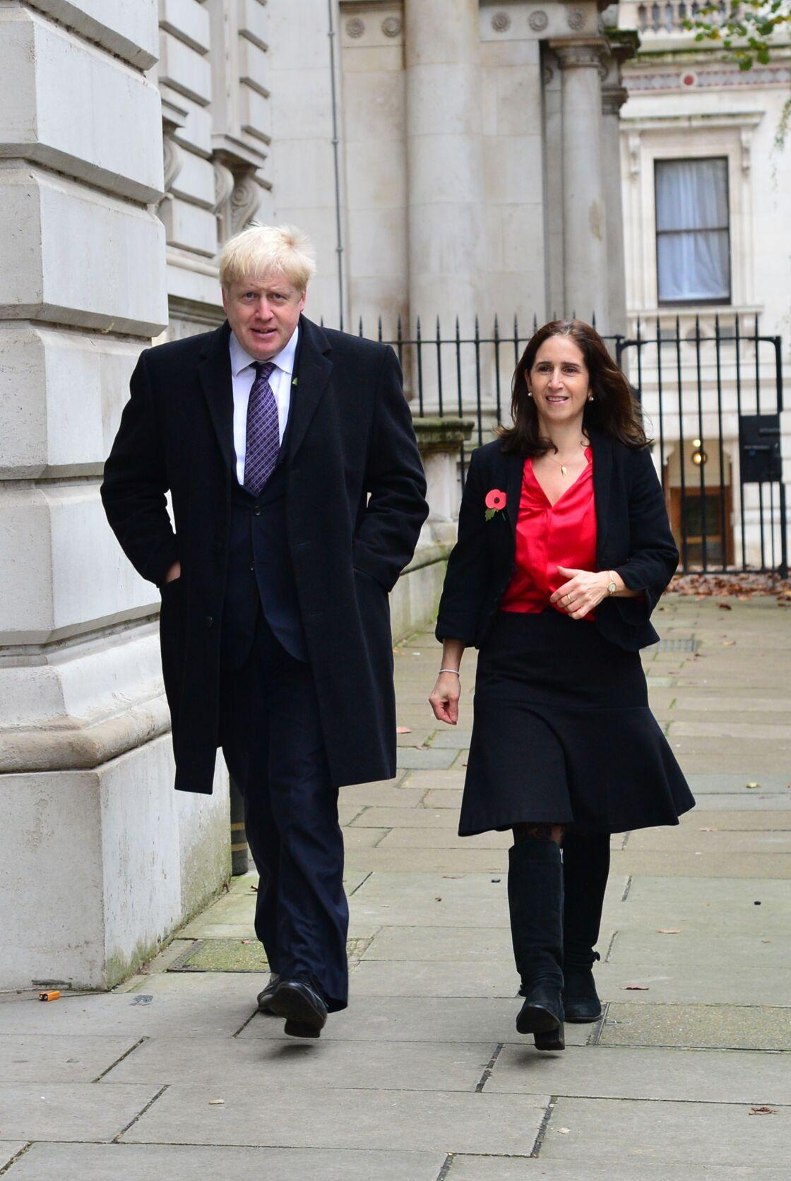 Boris Johnson et son ex-femme Marina Johnson le 8 novembre 2015