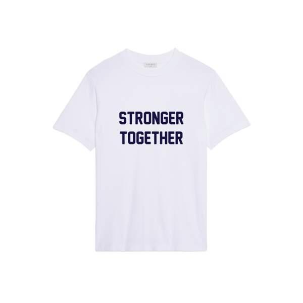 Stronger Together pour Homme, 65€,  Sandro, disponible sur sandro-paris.com