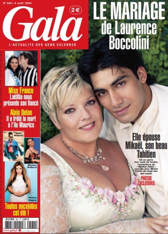 Laurence Boccolini et Mickaël Fakaïlo en couverture de Gala pour son numéro du 4 août 2004
