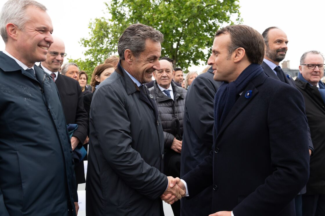Nicolas Sarkozy et Emmanuel Macron, le 8 mai 2019