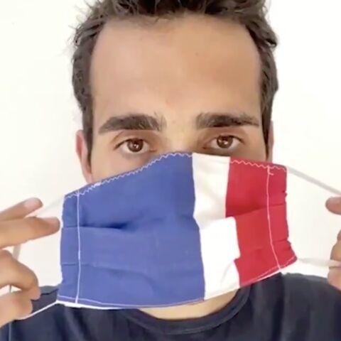 Comment bien mettre un masque? Martin Fourcade a la technique, et c'est très drôle