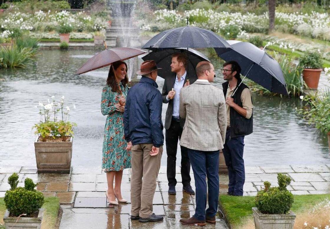 William, Harry et Kate, lors de l'inauguration du