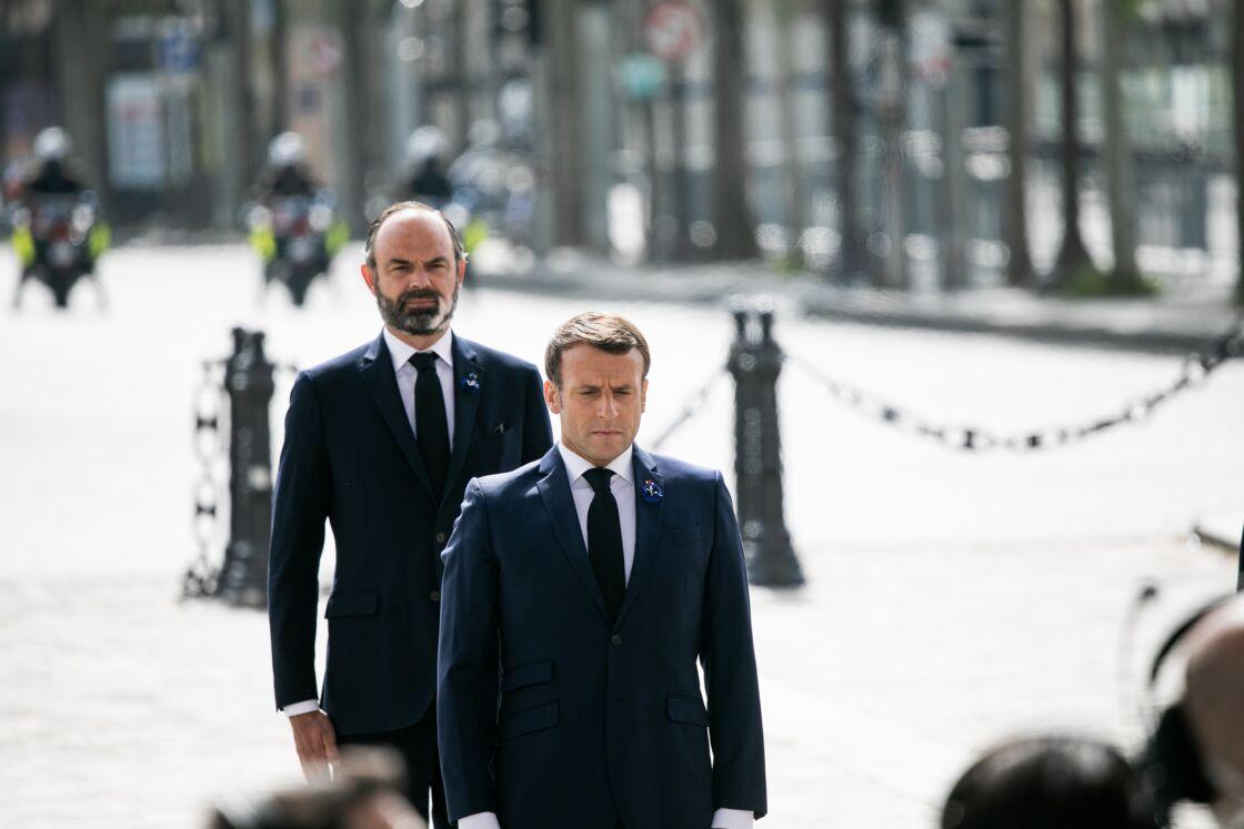 Emmanuel Macron et Édouard Philippe, le 8 mai 2020
