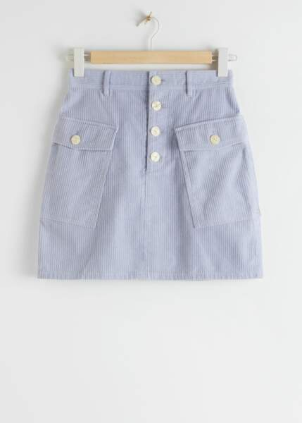 "Mini-jupe couleur Lilas ""Organic Cotton Corduroy"", & Other Stories sur www.stories.com"