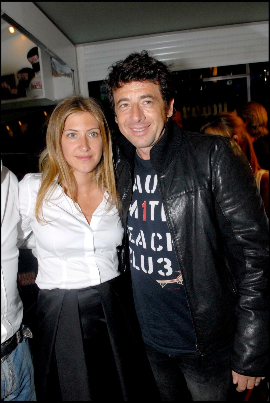 Patrick Bruel et son ex-femme Amanda Sthers en juin 2007 au VIP Room de Saint Tropez