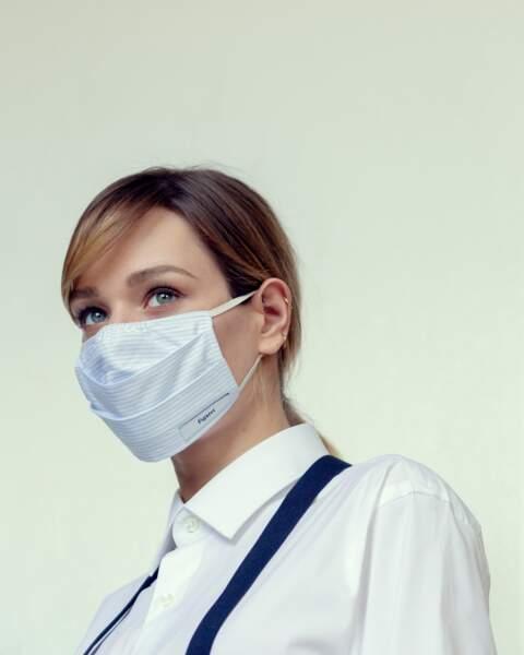 Masque et chemise Figaret, bretelles personnelles.