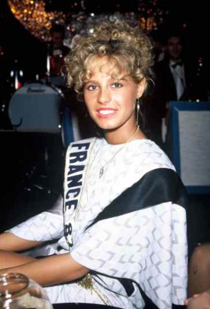 Nathalie Marquay après son élection en 1987