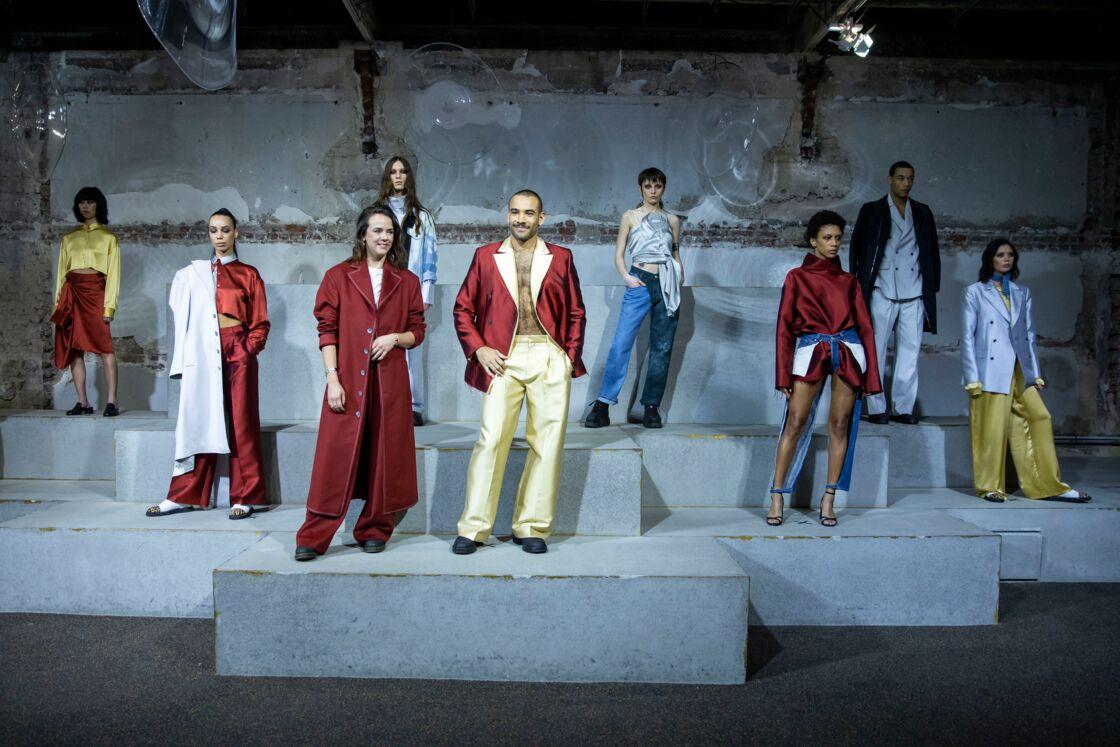 Pauline Ducruet avec ses mannequins lors du défilé de mode prêt-à-porter