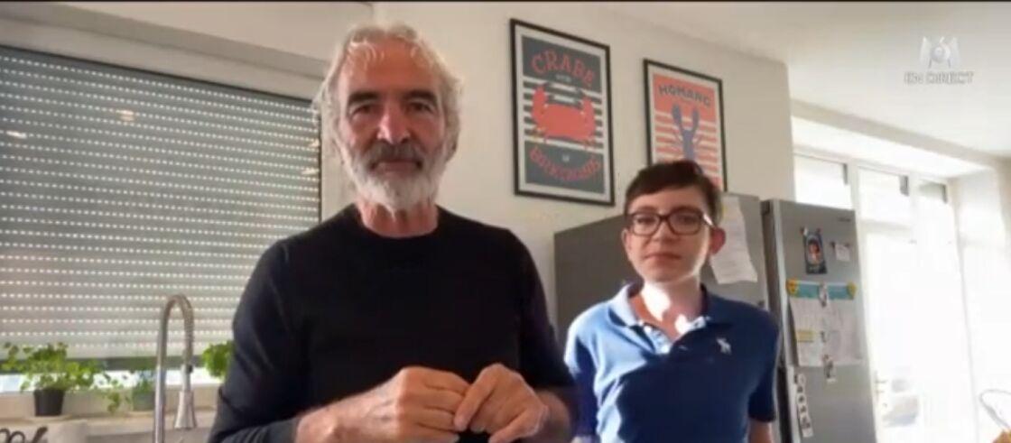 Raymond Domenech et son fils Merlin