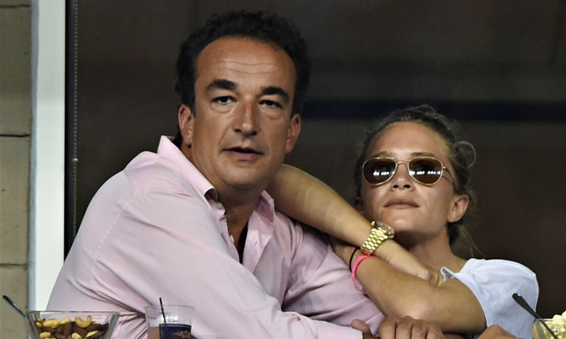 Olivier Sarkozy et Mary-Kate Olsen à l'US Open, à Flushing Meadows, le 1er septembre 2014.