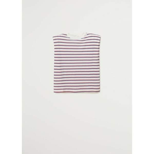 T-shirt à épaulettes Mango,15,99 €, sur LaRedoute