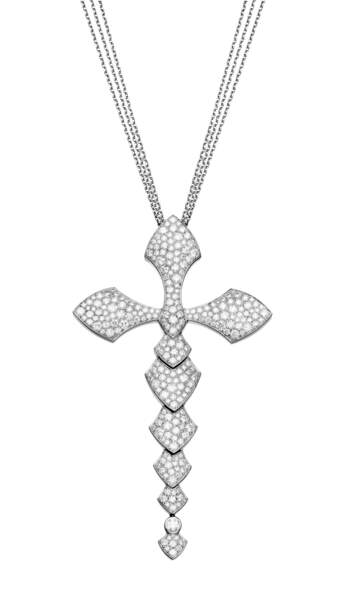 Collier en or blanc etdiamants, Akillis.