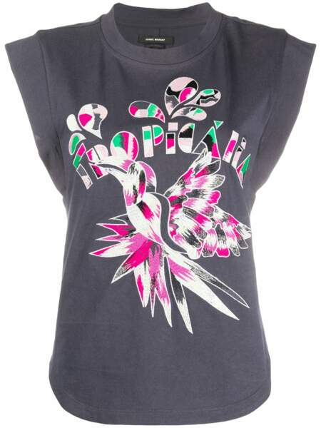 T-shirt à épaulettes ISABEL MARANT, 352€,  sur Farfetch.com