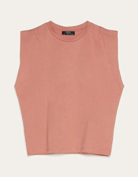 T-shirt à épaulettes Bershka, 9,99€, Bershka.com
