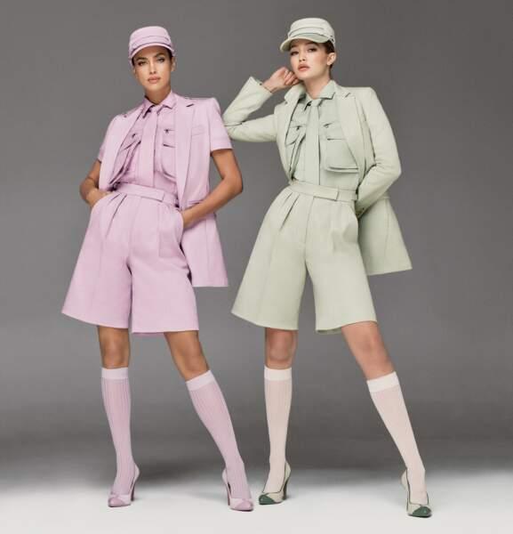 "Irina Shayk et Gigi Hadid, égéries de la ""Pastel Army"" en bermuda pour la collection #MaxMaraSS20"