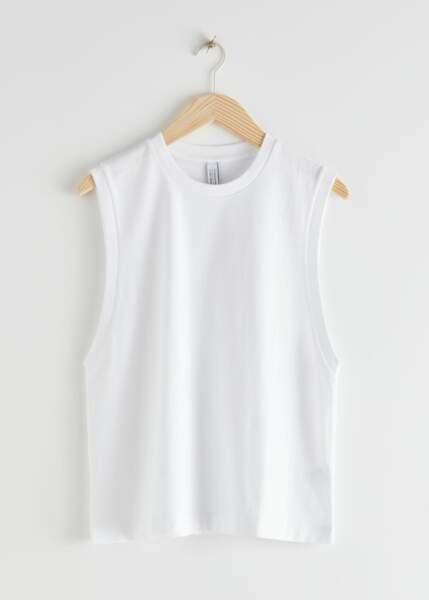 T-shirt à épaulettes Organic Cotton Tank Top, 19€, &OtherStories