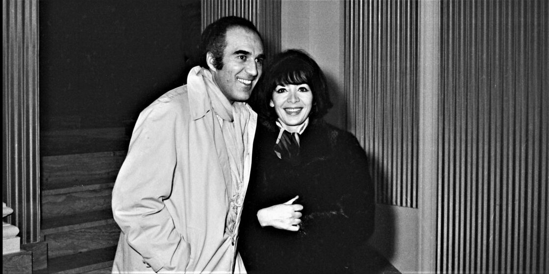Michel Piccoli et Juliette Gréco à Paris en 1969.