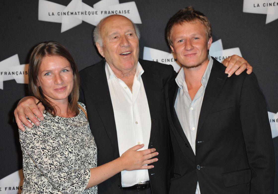 Michel Piccoli auprès de ses enfants Missia et Inord en 2013