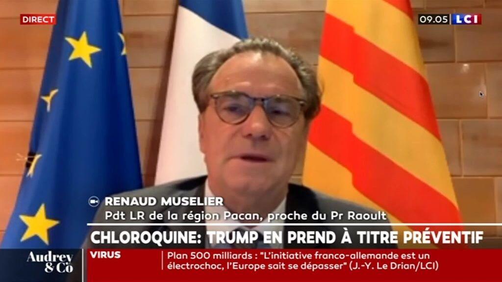Renaud Muselier, président de la région PACA et proche de Didier Raoult, n'a pas été convaincu par les propos de Donald Trump.